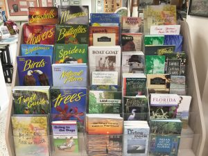 Many books by local authors in the Pine Island Museum Gift Shop