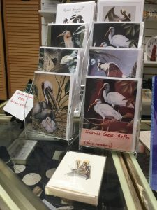 Bird note cards in the Pine Island Museum
